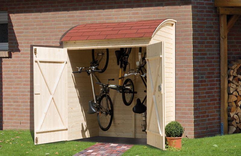 drewniany schowek na rowery szczawik. Black Bedroom Furniture Sets. Home Design Ideas