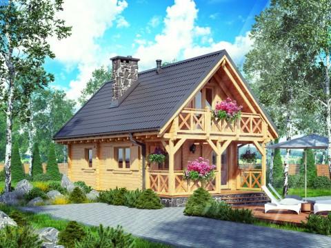 drewniany domek letniskowy grecja. Black Bedroom Furniture Sets. Home Design Ideas