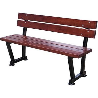 Oryginał Drewniana ławka zewnętrzna z oparciem - Ogrodosfera.pl CX25