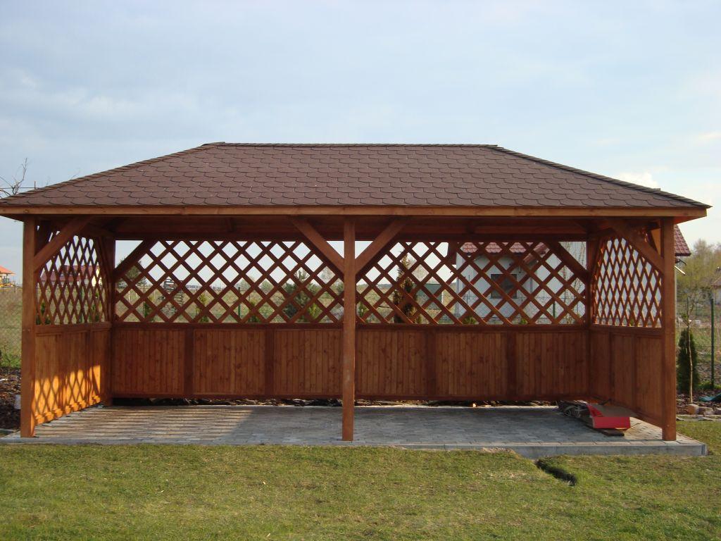 Altana Ogrodowa Drewniana Turyn 2500 X 5000 Dach Kopertowy Z Montażem