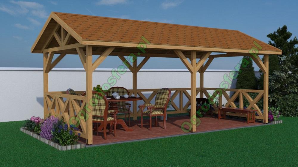 Duża Altana Ogrodowa Nicea Dach Dwuspadowy 3000 X 6000 Z Montażem