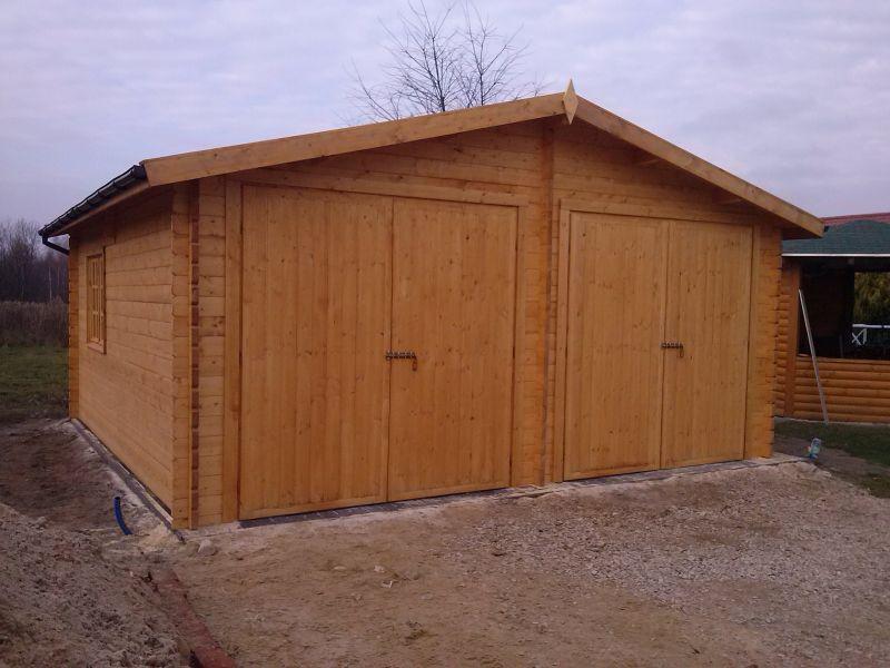 Drewniany Garaż Dwustanowiskowy Ignacy Ogrodosferapl