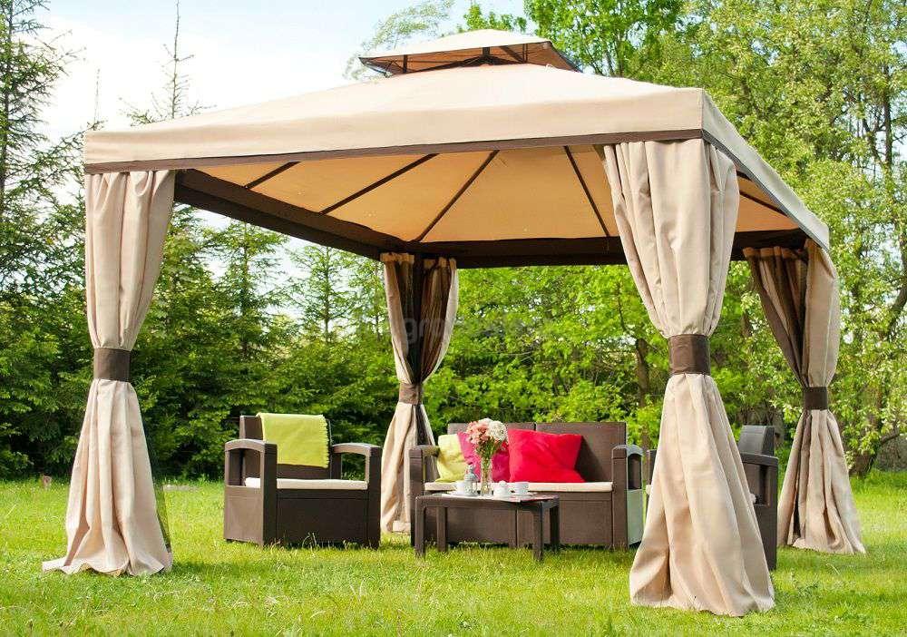 Altanki materiałowe, namioty i pawilony z moskitierą